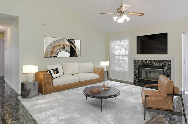 real estate virtual staging by HD showings